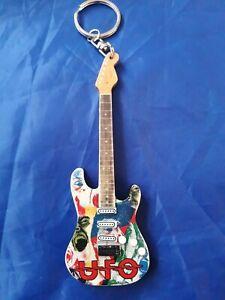 UFO 10cm Wooden Guitar Key Chain