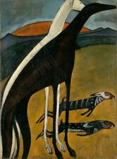 DE SOUZA-CARDOSO GREYHOUNDS WALL POSTER ART PRINT LF3152