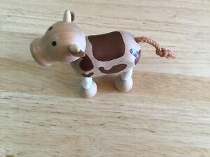 Anamalz Wooden Cow Toy