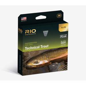 NEW ELITE RIO TECHNICAL TROUT WF-4-F #4 WT FWD FLOATING FLY LINE W/ SLICKCAST