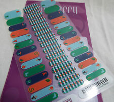 Jamberry Bright Plaid & Forest Friends A282 Junior Nail Wrap Full Sheet Retired
