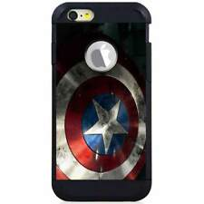 For Apple iPod Touch 5/6 5th/6th Gen. Hybrid Case Cover Captain America Shield S