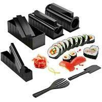 10PC DIY Sushi Making Kit Rice Roller Mold Set For Beginners Kitchen T6U8 C2P2