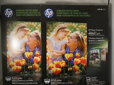 HP Everyday Glossy Photo Inkjet Paper 8.5x11-50 sheets ea ( 2pks) authentic item