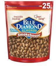(2 PACK) Blue Diamond Almonds, Smokehouse, 25 Ounce Each TOTAL OF 50 oz