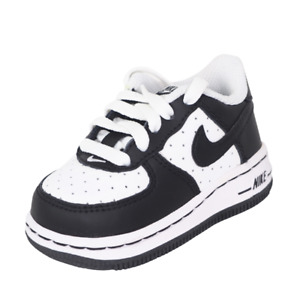 Nike Air Force One TD 314194 107 Toddler Shoes White Sneakers Vintage Leather DS
