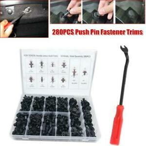 280PCS Car Body Plastic Push Pin Rivet Retainer Door Trim Bumper Clips Fastener