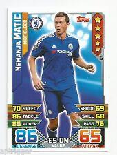 2015 / 2016 EPL Match Attax Base Card (63) Nemanja MATIC Chelsea