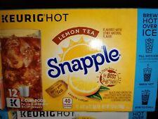 Keurig Snapple Lemon Tea K-Cup 12pack x6 = 72