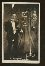 Magic Magician Illusionist Heverly The Great Post Card
