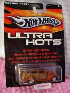 2005 Hot Wheels Ultra Hots '37 FORD WOODY Orange; Wood panel REAL RIDERS