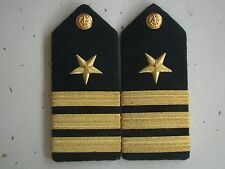 USN US NAVY USS O-5 COMMANDER CDR SERVICE & DRESS UNIFORM SHOULDER RANK BOARD PR