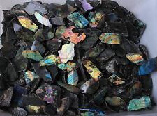 5.0 Kg One-side Polished Natural Labradorite Quartz Crystal Rough Mixed Size