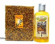 Blessed Anointing Oil 250 Ml & Aromatic Incense Myrrh Mirra Jerusalem Holy Land