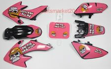 Black Plastic 3M Pink MM Decals Graphics For Honda CRF50 XR50 bike Thumpstar SSR