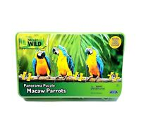 National Geographic Wild Panorama Macaw Parrots Puzzle by Uncle Milton New Tin