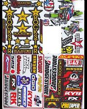 SET 4 x Sheets Stickers Decal MotocrossMotorcycle Car ATV Racing Bike Helmet #B