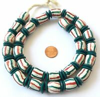 Ghana African Mixed handmade Recycled glass African trade beads
