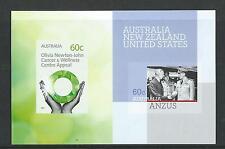 AUSTRALIA 2012  OLIVIA NEWTON-JOHN / ANZUS SHEETLET UNMOUNTED MINT, MNH