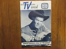 Feb. 21, 1965 Lancaster Pa TV Week Magazine(CHUCK  CONNORS/BRANDED/THE  RIFLEMAN