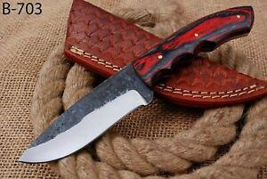 CUSTOM HAND FORGED Railroad High Carbon Steel Hunting Skinner Knife (703)