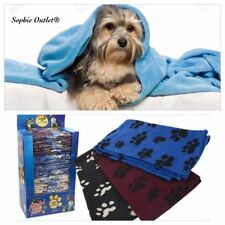 Pet Blanket Soft Touch Warm Cosy Fleece Dog Puppy Cat Travel Bed Basket Large