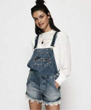 Superdry Womens Denim Lace Dungarees