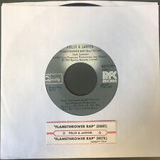Felix And Jarvis Flamethrower Rap 45 RPM