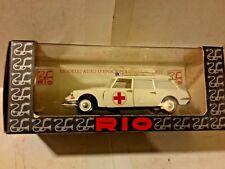 Rio Citroen Break Red Cross Ambulance 1:43 Scale Die Cast ID 19