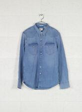 Blu Small Levi's Barstow Western Camicia in Jeans Uomo (brooklyn (3u2)
