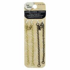 """3"""" Necklace Extension Chain Extenders  Set of Four- lobster clasp- gold"""