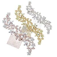 Wedding Diamante Crystal Rhinestone Hair Pins Clips Bridal Comb Accessories