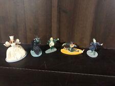 Lot Of 5 Vintage Broken 1988 Wizard of Oz Franklin Mint Figurines