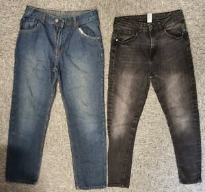 Bargain boys pack  - 2 blue / black jeans by George - for 12-13 yrs