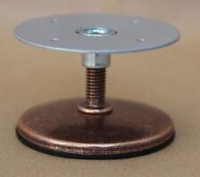 M8 COPPER Threaded Stem Adjustable Furniture Feet 60 mm. FURNITURE PLATE