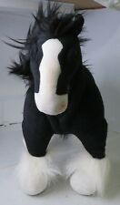 "Walt Disney Brave MERIDA'S BLACK CLYDESDALE HORSE ANGUS 15"" Plush Stuffed Animal"