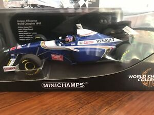 1:18 Minichamps Williams FW19 1997 F1 World Champion Jacques Villeneuve w/DECALS