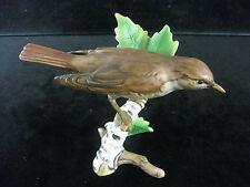 GOEBEL Porzellan Vogel auf Birkenast 'Nachtigall' / Ref. 2812 - 1973