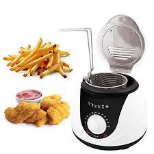 1L ELETTRICO MINI grasso Profondo Chip Pesce Friggitrice ANTIADERENTE PAN & sicuro CESTO 900 WATT