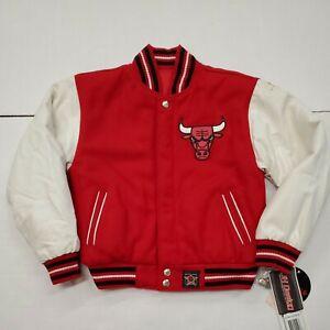 NWT Vintage Chicago Bulls Reversible Jeff Hamilton Jacket Coat Youth Small