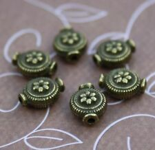 pack of 30 - Antique Bronze Zinc Alloy Beads metal beads with flower