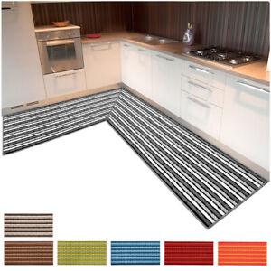 Tappeto cucina angolare 3D moderno bordato corsia al metro su misura mattonelle