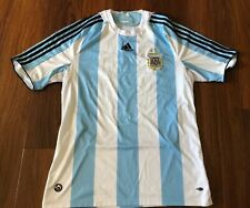 Argentina Adidas 2008/2009 Home Jersey Size Large Original Shirt Big Crest