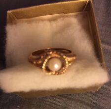 "Avon ""Totally Elegant"" Cultured Pearl Ring"