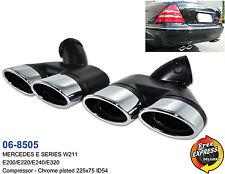 Exhaust tips tailpipe trims for Mercedes Benz W211 E200 E220 E240 E320 / 06-8505