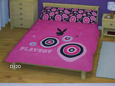 Playboy Bunny Pink King Bed Quilt Doona Cover Set New