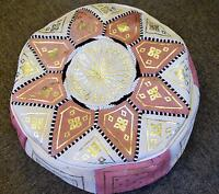 HANDMADE Leather Moroccan Pouffe ottoman stool HIGH QUALITY