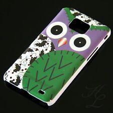 Samsung Galaxy S2 i9100 Hard Handy Case Schutz Hülle Etui Eule Grün Schale Owl