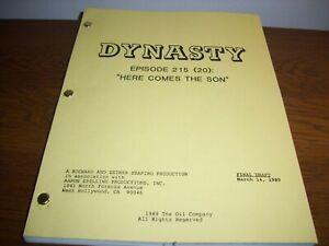 "RARE VINTAGE ORIGINAL 1989 ""DYNASTY"" FINAL DRAFT SCRIPT USED ON THE TV SHOW!"