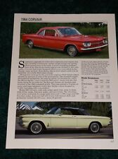 ★★1964 CHEVY CORVAIR SPEC SHEET INFO PHOTO 64 600 900 MONZA SPYDER CONVERTIBLE★★